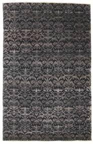 Damask 絨毯 164X255 モダン 手織り 黒/濃い茶色 ( インド)