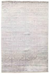 Damask 絨毯 199X301 モダン 手織り 薄い灰色/ベージュ ( インド)