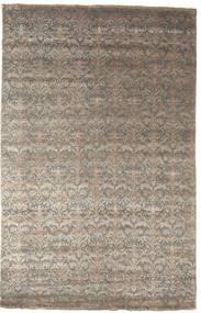 Damask 絨毯 195X305 モダン 手織り 薄い灰色/濃いグレー ( インド)