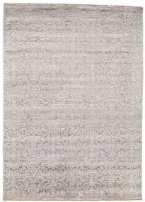 Damask 絨毯 154X214 モダン 手織り 薄い灰色 ( インド)