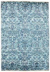 Damask 絨毯 170X244 モダン 手織り 水色/青 ( インド)