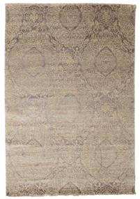 Damask 絨毯 165X242 モダン 手織り 薄い灰色 ( インド)
