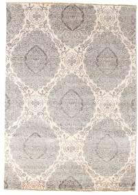 Damask 絨毯 171X244 モダン 手織り 薄い灰色/ベージュ ( インド)