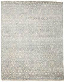 Damask 絨毯 244X308 モダン 手織り 薄い灰色/暗めのベージュ色の ( インド)