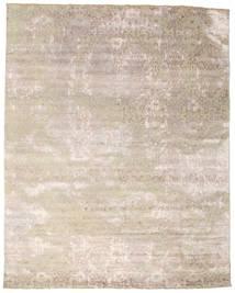 Damask 絨毯 242X308 モダン 手織り 薄い灰色/ホワイト/クリーム色 ( インド)