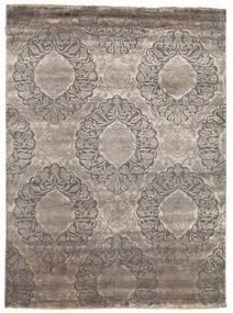 Damask 絨毯 177X242 モダン 手織り 薄い灰色/濃いグレー ( インド)