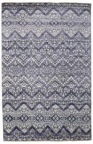 Damask 絨毯 200X305 モダン 手織り 薄い灰色/濃いグレー ( インド)