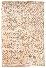 Damask 絨毯 123X185 モダン 手織り ベージュ/ライトピンク ( インド)