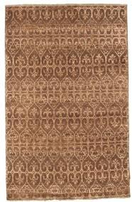 Damask 絨毯 114X181 モダン 手織り 茶/薄茶色 ( インド)