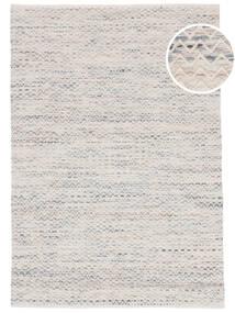 Chevron Waves - 薄い 絨毯 140X200 モダン 手織り ベージュ/薄い灰色 ( インド)