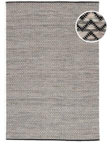 Chevron Waves - ダーク 絨毯 160X230 モダン 手織り 薄い灰色/濃いグレー/ベージュ ( インド)