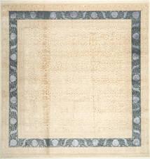 タブリーズ Royal Magic 絨毯 302X311 オリエンタル 手織り 正方形 ベージュ/ライトピンク 大きな ( インド)