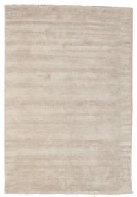 ハンドルーム Fringes - 薄い灰色/ベージュ 絨毯 160X230 モダン 薄い灰色 (ウール, インド)