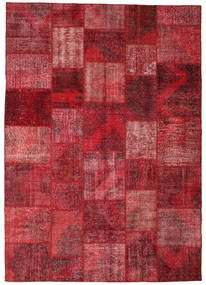 パッチワーク 絨毯 248X352 モダン 手織り 深紅色の/赤 (ウール, トルコ)