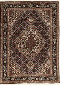 タブリーズ 40 Raj 絨毯 107X149 オリエンタル 手織り 深紅色の/濃い茶色 (ウール/絹, ペルシャ/イラン)