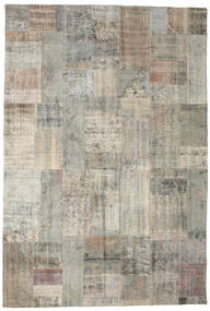 パッチワーク 絨毯 201X299 モダン 手織り 薄い灰色 (ウール, トルコ)