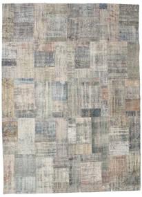 パッチワーク 絨毯 256X351 モダン 手織り 薄い灰色 大きな (ウール, トルコ)