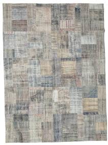 パッチワーク 絨毯 256X351 モダン 手織り 薄い灰色/濃いグレー 大きな (ウール, トルコ)