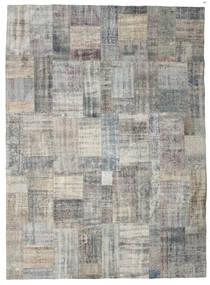 パッチワーク 絨毯 256X350 モダン 手織り 薄い灰色/濃いグレー 大きな (ウール, トルコ)