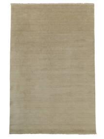 ハンドルーム Fringes - Greige 絨毯 200X300 モダン 薄い灰色 (ウール, インド)