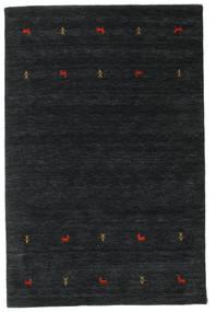 ギャッベ ルーム Two Lines - 黒/グレー 絨毯 160X230 モダン 黒 (ウール, インド)