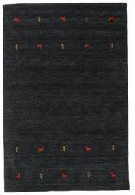 ギャッベ ルーム Two Lines - 黒/グレー 絨毯 140X200 モダン 黒 (ウール, インド)