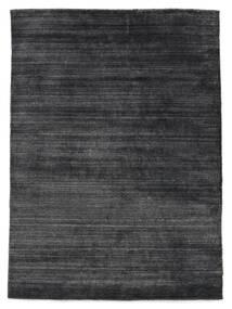 Bamboo シルク ルーム - チャコール 絨毯 140X200 モダン 濃いグレー/黒 ( インド)