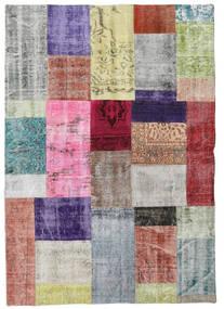 パッチワーク 絨毯 141X200 モダン 手織り ライトグリーン/茶 (ウール, トルコ)