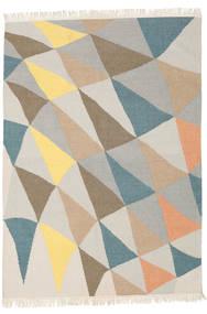 Fly 絨毯 140X200 モダン 手織り 薄い灰色/暗めのベージュ色の (ウール, インド)