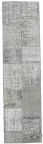 パッチワーク 絨毯 80X300 モダン 手織り 廊下 カーペット 薄い灰色/ターコイズブルー (ウール, トルコ)