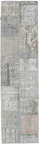パッチワーク 絨毯 79X301 モダン 手織り 廊下 カーペット 薄い灰色 (ウール, トルコ)