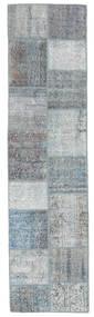 パッチワーク 絨毯 78X301 モダン 手織り 廊下 カーペット 薄い灰色/青 (ウール, トルコ)