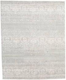 Himalaya 絨毯 246X301 モダン 手織り 薄い灰色/暗めのベージュ色の (ウール/バンブーシルク, インド)