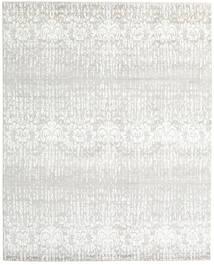 Himalaya 絨毯 243X303 モダン 手織り 薄い灰色/ベージュ (ウール/バンブーシルク, インド)