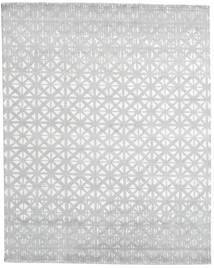 Himalaya 絨毯 244X306 モダン 手織り ホワイト/クリーム色/薄い灰色 (ウール/バンブーシルク, インド)