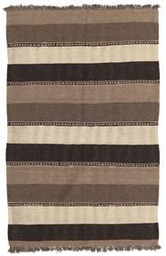 キリム 絨毯 85X130 オリエンタル 手織り 茶/薄い灰色/濃いグレー (ウール, ペルシャ/イラン)