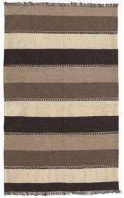 キリム 絨毯 80X128 オリエンタル 手織り 濃い茶色/薄い灰色 (ウール, ペルシャ/イラン)