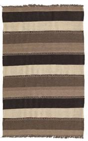 キリム 絨毯 82X131 オリエンタル 手織り 茶/黒/薄い灰色 (ウール, ペルシャ/イラン)