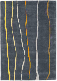 Flaws Handtufted - グレー 絨毯 140X200 モダン 濃いグレー/紺色の (ウール, インド)