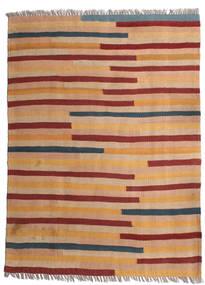 キリム 絨毯 85X118 オリエンタル 手織り 薄茶色/深紅色の (ウール, ペルシャ/イラン)