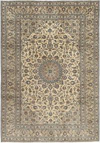 カシャン パティナ 絨毯 242X350 オリエンタル 手織り 薄い灰色/薄茶色 (ウール, ペルシャ/イラン)