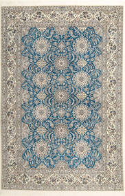 ナイン 6La Habibian 絨毯 210X323 オリエンタル 手織り 薄い灰色/暗めのベージュ色の (ウール/絹, ペルシャ/イラン)