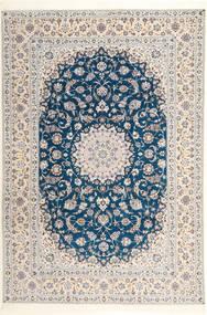 ナイン 6La Habibian 絨毯 204X304 オリエンタル 手織り 薄い灰色/ホワイト/クリーム色 (ウール/絹, ペルシャ/イラン)