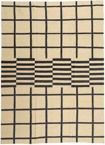 キリム モダン 絨毯 209X286 モダン 手織り ベージュ/濃いグレー (ウール, アフガニスタン)