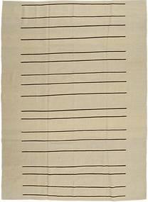 キリム モダン 絨毯 204X281 モダン 手織り 暗めのベージュ色の/オリーブ色 (ウール, アフガニスタン)