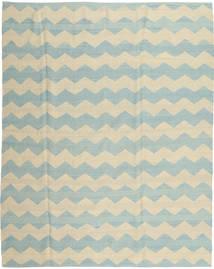 キリム モダン 絨毯 190X234 モダン 手織り 暗めのベージュ色の/ターコイズブルー (ウール, アフガニスタン)