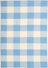 Check Kilim 絨毯 160X230 モダン 手織り 水色/ベージュ (ウール, インド)