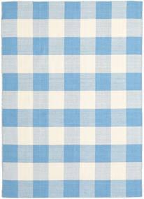 Check Kilim 絨毯 210X290 モダン 手織り 水色/ベージュ (ウール, インド)