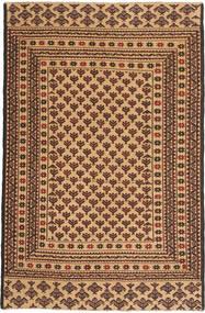 キリム ゴルバリヤスタ 絨毯 126X190 オリエンタル 手織り 暗めのベージュ色の/濃い茶色 (ウール, アフガニスタン)