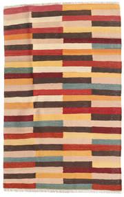 キリム 絨毯 82X129 オリエンタル 手織り 深紅色の/濃い茶色 (ウール, ペルシャ/イラン)